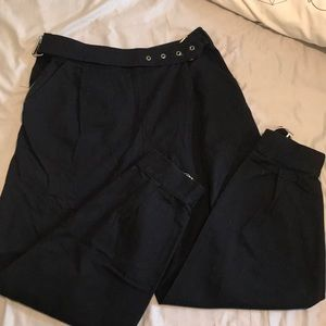 Black High Waisted Balloon Pants